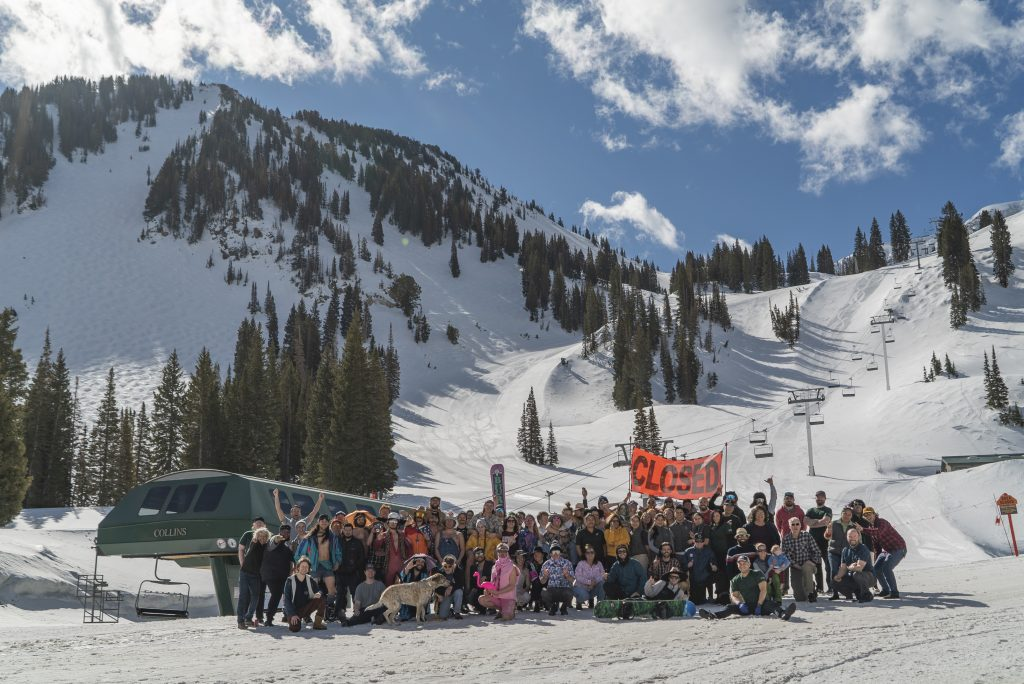 The GMD class of 2019-2020 at the base of the Collins Chair. Accessing arguably the most advanced terrain on the mountain, a Ski-in Ski-out job at the base of this chair is a dream come true.